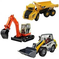 IPlay, iLearn iPlay, iLearn Heavy Duty Construction Site Play Set, Collectible Model Vehicles, Metal Tractor Toy, Dump Truck, Excavator, Digger, Compact Gift Toy for 2, 3, 4 Year Olds, Toddlers,