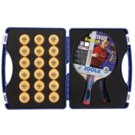 JOOLA Tour Expert Carrying Case - Ping Pong Paddle Set Includes 2 ITTF APPROVED Rossi Smash Table Tennis Paddles & 18 40mm 3 Star Tournament Ping Pong Balls - High Density Case wit