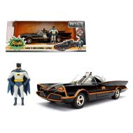 1966 Classic TV Series Batmobile with Diecast Batman and Plastic Robin in the car 124 Diecast Model Car by Jada