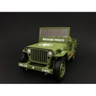 US Army WWII Jeep Vehicle Military Police Green 118 by American Diorama 77406