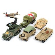 The Greatest Generation Military Release 2 Set A of 6 Limited Edition to 2,500 pieces Worldwide 1/64, 1/87, 1/100, 1/144 Diecast Models by Johnny Lightning JLML002 A