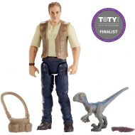 JWIF Jurassic World Fallen Kingdom Owen & Baby Blue Dinosaur Posable Figure 3.75 2018