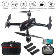 LOHOME JJPRO X5 GPS Smart Return Drone 5G WiFi System Quadcopter, Remote Control Aircraft Drone with 1080P Camera Live Vedio, Brushless Motor and Follow Me Mode