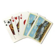 Lantern Press New York City, New York - View of La Guardia Airport (Playing Card Deck - 52 Card Poker Size with Jokers)