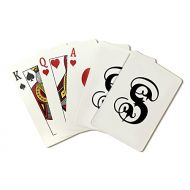 Lantern Press Monogram - Letter S - Hand Drawn Style (Playing Card Deck - 52 Card Poker Size with Jokers)