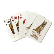 Lantern Press German Shepherd - Life is Better - White Background (Playing Card Deck - 52 Card Poker Size with Jokers)