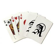 Lantern Press Monogram - Letter A - Hand Drawn Style (Playing Card Deck - 52 Card Poker Size with Jokers)
