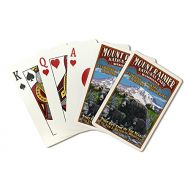 Lantern Press Mount Rainier National Park - Bear Family Vintage Sign (Playing Card Deck - 52 Card Poker Size with Jokers)