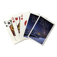 Lantern Press Crater Lake National Park, Oregon - Milky Way Over Lake (Playing Card Deck - 52 Card Poker Size with Jokers)