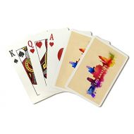 Lantern Press Los Angeles, California - Skyline Abstract (Playing Card Deck - 52 Card Poker Size with Jokers)