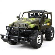 LightInTheBox RC Car RC Jeep 1:14 Off Road Car 4CH 2.4G Rock Crawlers Jeep Vehicle Brushless Electric Flashlight  Waterproof  Shockproof Door Open Control Kids Suprise Gift 8 KM