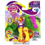 My Little Pony Crystal Princess Celebration Masquerade Ponies - Sunset Shimmer, Rarity, Rainbow Dash and Pinkie Pie