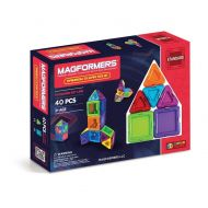 Magformers Solids Clear Rainbow 40pc Set