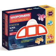 MAGFORMERS My First Buggy 14-Piece Magnetic Construction Set, Red