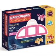 MAGFORMERS My First Buggy 14-Piece Magnetic Construction Set, Pink
