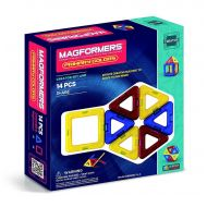 MAGFORMERS Magformers Primary Color 14-Piece Magnetic Construction Set