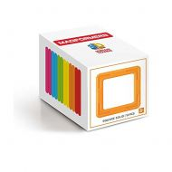 Magformers 12-Piece Square Building Set, Rainbow
