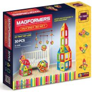 Magformers My First 30 Piece Multicolor Magnetic Tiles Building Set