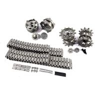 Mato Toys Mato Metal Tracks Sets Sprockets With Metal Caps Idler Wheels With Bearings For Heng Long 3938 RUSSIAN T 90 1 16 Tank
