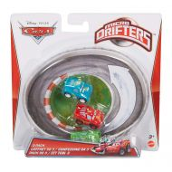 Mattel Cars Micro Drifters Chick Hicks, Spare O Mint and Lightning McQueen Vehicle, 3-Pack