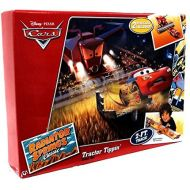 Mattel Disney / Pixar CARS Movie Exclusive Playset Tractor Tippin Track Set Includes Plastic Frank Lightning McQueen