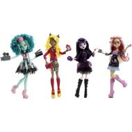 Mattel Monster High Frights, Camera, Action! Set of 4 Viperine Gorgon, Elissabat, Clawdia Wolf and Honey Swap!