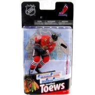 McFarlane NHL Series 24 Jonathan Toews Collector Level Silver Chase Figure Red Jersey