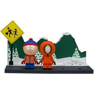 South Park Small Construction Set  Stan & Kenny With The Bus Stop (Manufacturer: McFarlane) [parall