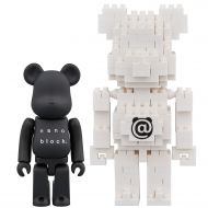 Medicom Bearbrick x Nanoblock 100% Bearbrick Toy Figure and Building Set