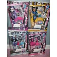 Monster High Picture Day Dolls Set of 4: Spectra, Cleo, Abbey, and Draculaura