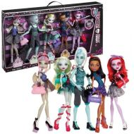 Mattel Year 2013 Monster High Dance Class Series 5 Pack 11 Inch Tall Doll Set - Rochelle Goyle, Gillington Gil Weber, Lagoona Blue, Robecca Steam and Operetta Plus 4 Purse and 1 Du