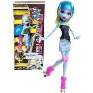 Mattel Year 2012 Monster High Skultimate Roller Maze Series 11 Inch Doll Set - ABBEY BOMINABLE Daughter of The Yeti with Removable Helmet, Roller Skate and Doll Stand