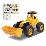 MUNDO TOYS MIAMI Construction Truck 5 IN 1 DIY (71pcs) Engineering, Tractor, Build your own kit construction, Toy Vehicle, Bulldozer, Cowcatcher, Cement Roller, Truck crane, Lift truck