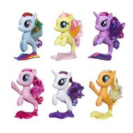 My Little Pony 6 Seapony Toys  Twilight Sparkle, Rainbow Dash, Pinkie Pie, Rarity, Fluttershy, & Applejack 6 Mermaid Ponies (Amazon Exclusive)