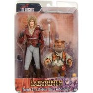 NECA Labyrinth Jareth and Hoggle 7 Action Figure 2 Pack