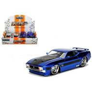New Jada NEW DIECAST TOYS CAR JADA 1:24 DISPLAY - METALS - BIGTIME MUSCLE - 1973 FORD MUSTANG MACH 1 BLUE, SILVER SET OF 2 99978-DP1