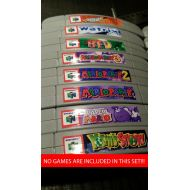 AfterMidnightps Nintendo N64 cartridge spine top end labels - all U.S. games free U.S. shipping