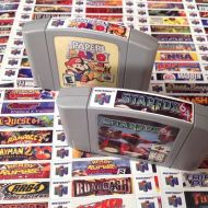 SzabosArcades Nintendo N64 end labels -includes full libary