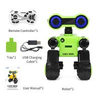 Ocamo JJRC R13 Cady WIRI Smart RC Robot Programmable forTouch Control Voice Message Record Newest Sing Dance Toy Green