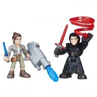 Star Wars Galactic Heroes Rey (Resistance Outfit) & Kylo Ren, Power up these figures with removable arms that can snap on and off By Playskool