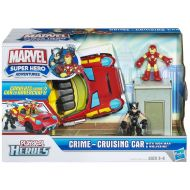 /Marvel Super Hero Adventures Playskool Heroes Crime Cruising Car with Wolverine and Iron Man Set