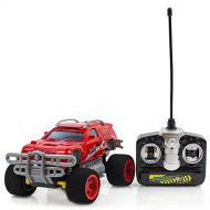 Purplecraft Battery Operated 4 Turbo Monster Truck Radio Control Red Toy Car, 27mhz Supersensitive Remote Control, All Terrain Racing Toy car at 30km/hr for Kids and Adults.