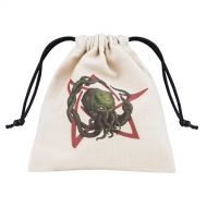Qworkshop QworkshopBCTH104 Call of Cthulhu Dice Bag, Beige and Multicolor, Multi-Color