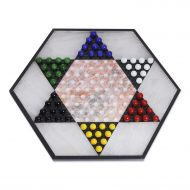 RADICALn NOVICA Hand Crafted Colorful Contrast Marble and Onyx Chinese Checkers