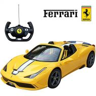 RASTAR 458 supetia-re A 1/14 RC Ferrari Officially Licensed RC Yellow minicar