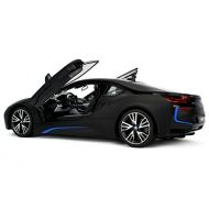 RASTAR Officially Licensed BMW i8 Authentic W/Open Doors RC Vehicles Scale 1: 14 by Rastar (Black) [paralle