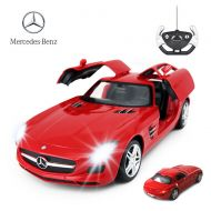 RASTAR Benz Remote Control Car |1:14 RC Mercedes Benz SLS AMG Model Car Toy Car for Kids, Open Doors by Manual  White 27 MHz40 MHz