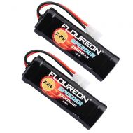 Redcat floureon 7.2V 3500mAh NiMH 6 Cell Rechargeable RC Battery Pack with Tamiya Plug for Popular Standard RC Cars Including Traxxas LOSI mAssociated HPI Tamiya Kyosho (2pack)