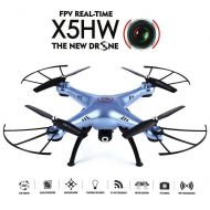 SYMA Syma X5HW WiFi FPV 2.4G 4CH RC 6 Axis Gyro Quadcopter Drone With 0.3MP HD Camera, A 360-degree 3D flips function RTF RC