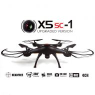 SYMA JMAZ Syma X5SC-1 Explorers Upgraded Version RC Quadcopter Drone 4CH 6-Axis 2.4G Gyro Drone 2MP HD Camera Black